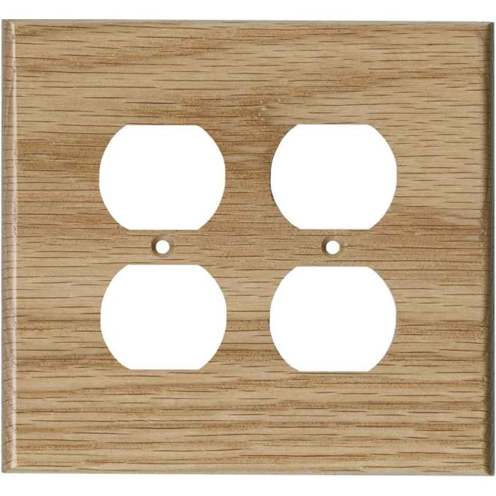 Oak Red Unfinished - 2 Gang Electrical Outlet Covers