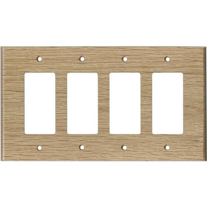 Oak Red Unfinished 4 Rocker GFCI Decorator Switch Plates