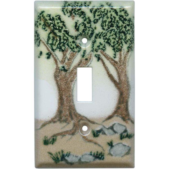 Oak Trees Single 1 Toggle Light Switch Plates