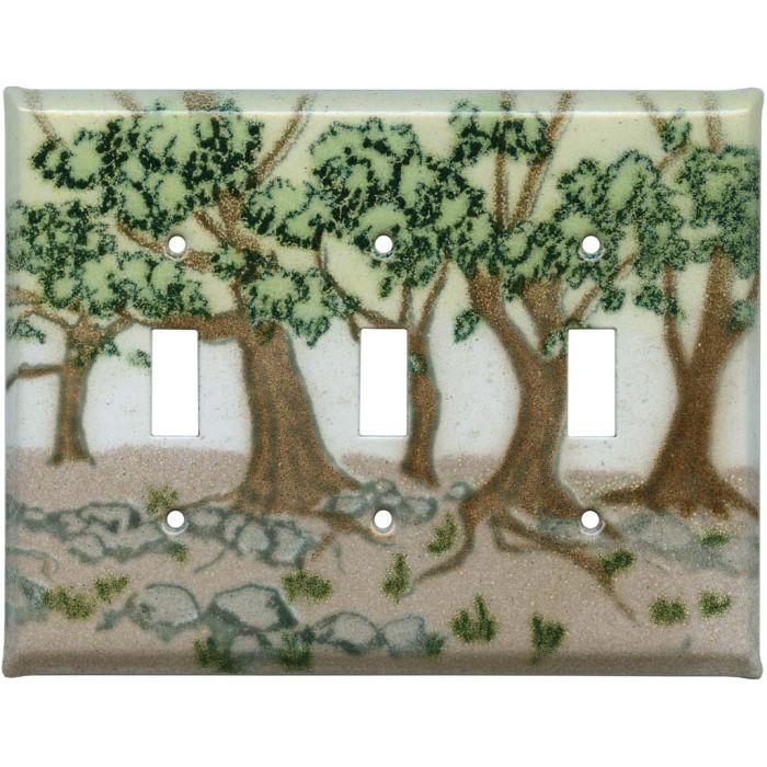Oak Trees Triple 3 Toggle Light Switch Covers