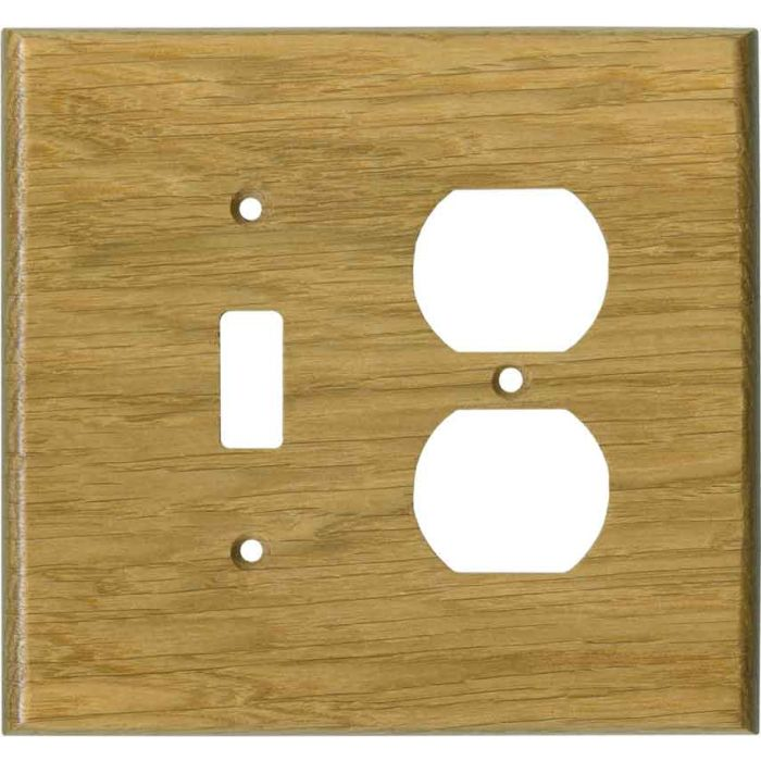 Oak White Satin Lacquer - Combination 1 Toggle/Outlet Cover Plates