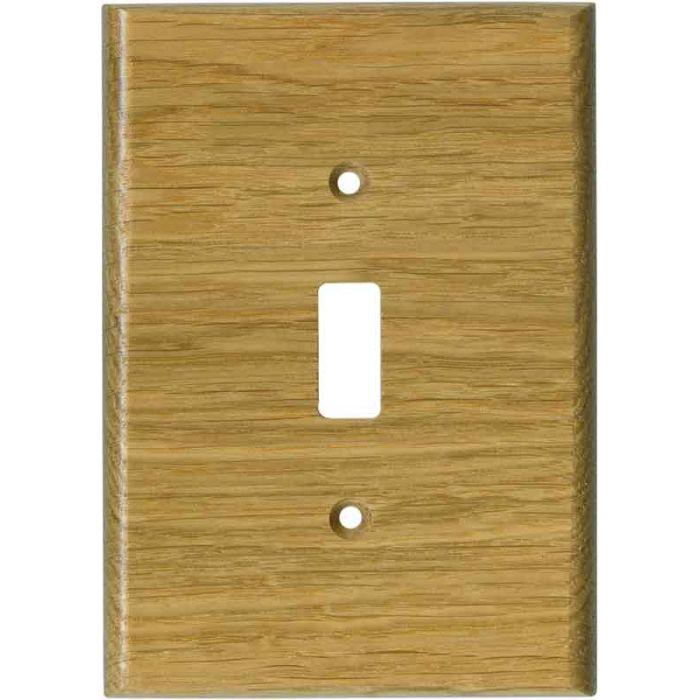Oak White Satin Lacquer - Single Toggle Switch Plates