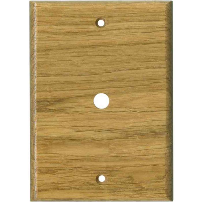 Oak White Satin Lacquer Coax Cable TV Wall Plates