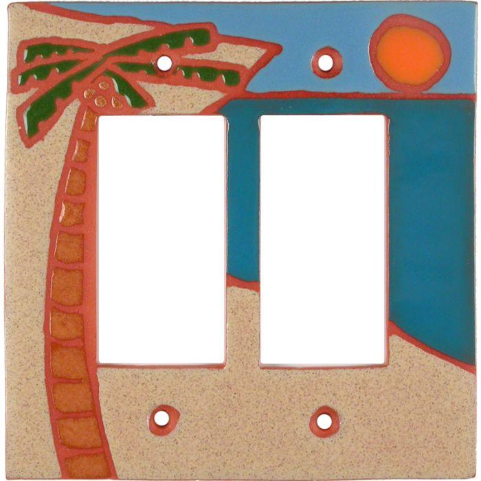 Oasis 2 Gang Double GFCI Rocker Decorator Wallplates
