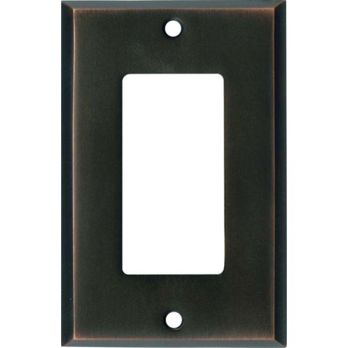 Oil Rubbed Bronze Single 1 Gang GFCI Rocker Decora Switch Plate Cover