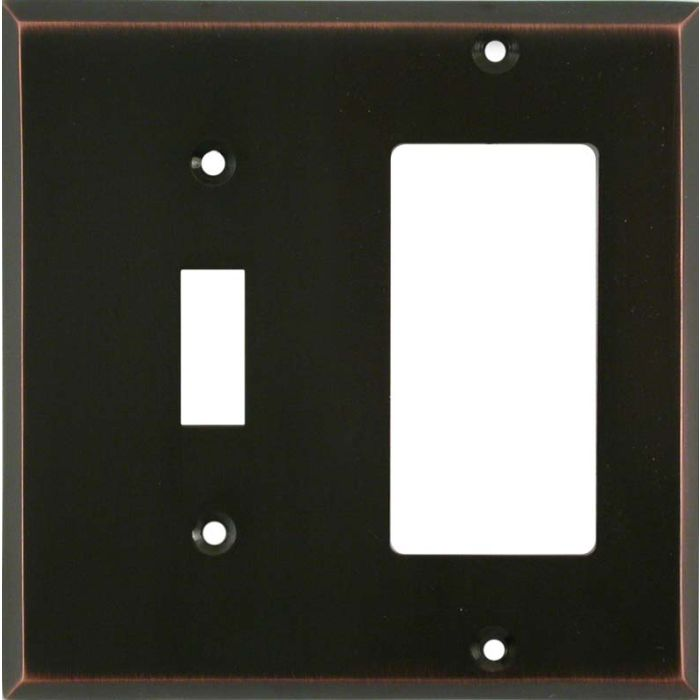 Oil Rubbed Bronze Combination 1 Toggle / Rocker GFCI Switch Covers