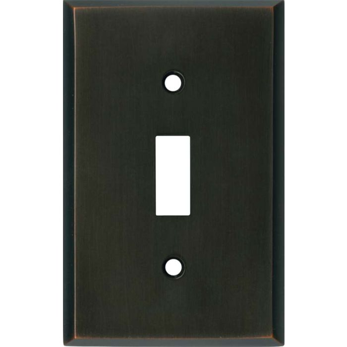 Oil Rubbed Bronze - Single Toggle Switch Plates