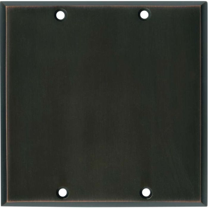 Oil Rubbed Bronze Double Blank Wallplate Covers