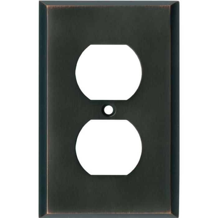 Oil Rubbed Bronze 1 Gang Duplex Outlet Cover Wall Plate