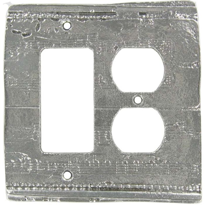 Old Sheet Music Combination GFCI Rocker / Duplex Outlet Wall Plates