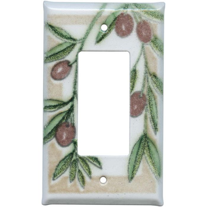 Olive Single 1 Gang GFCI Rocker Decora Switch Plate Cover