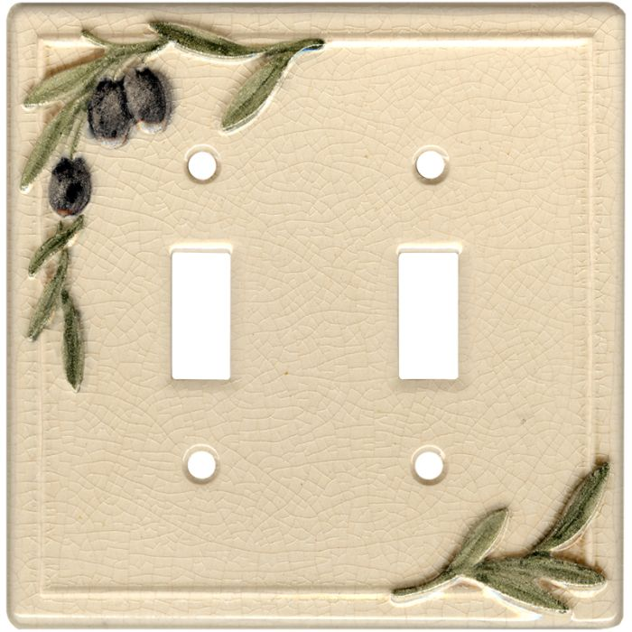 Olive Vines Double 2 Toggle Switch Plate Covers