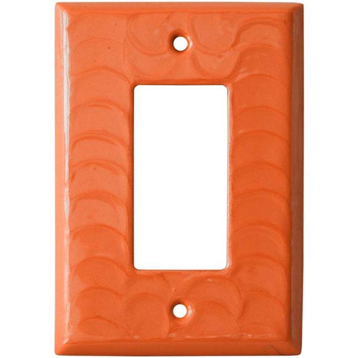 Orange Motion Single 1 Gang GFCI Rocker Decora Switch Plate Cover