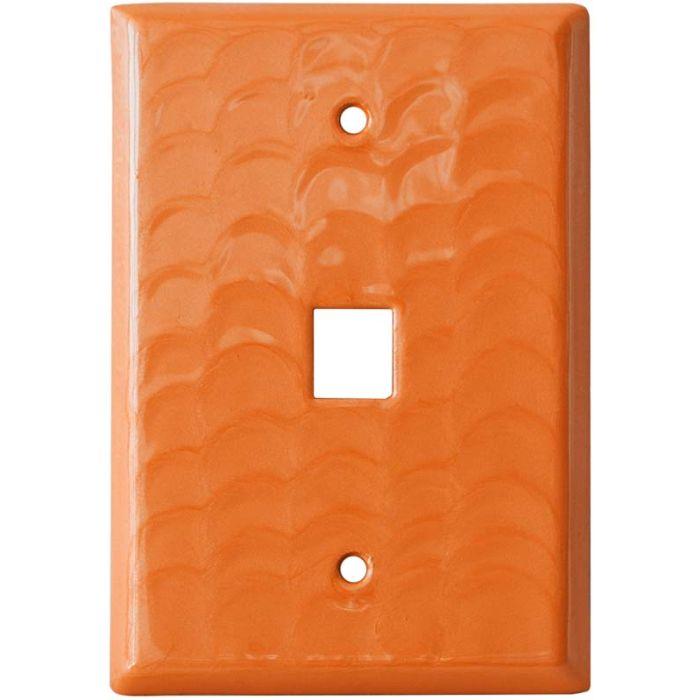 Orange Motion 1 Port Modular Wall Plates for Phone, Data, Phone