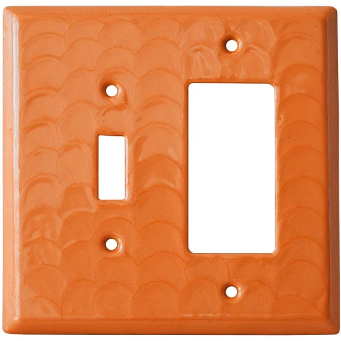 Orange Motion - Combination 1 Toggle/Rocker Switch Covers