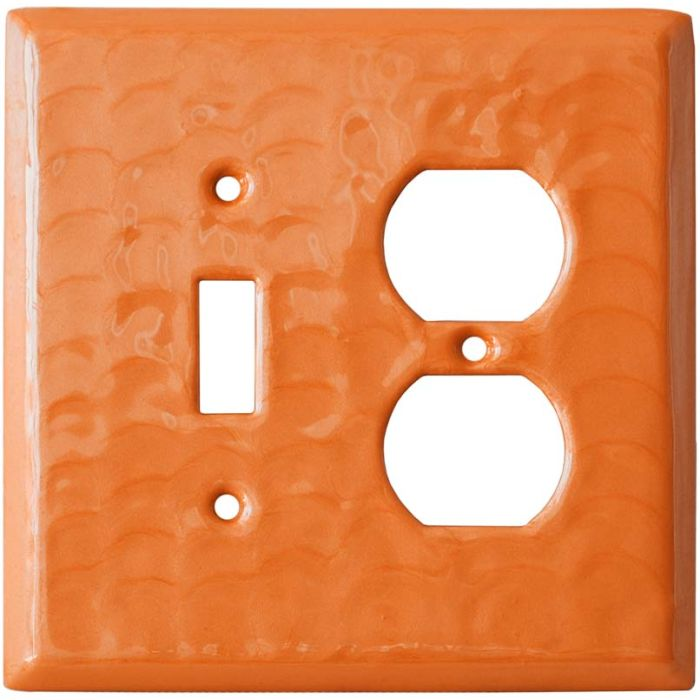 Orange Motion - Combination 1 Toggle/Outlet Cover Plates