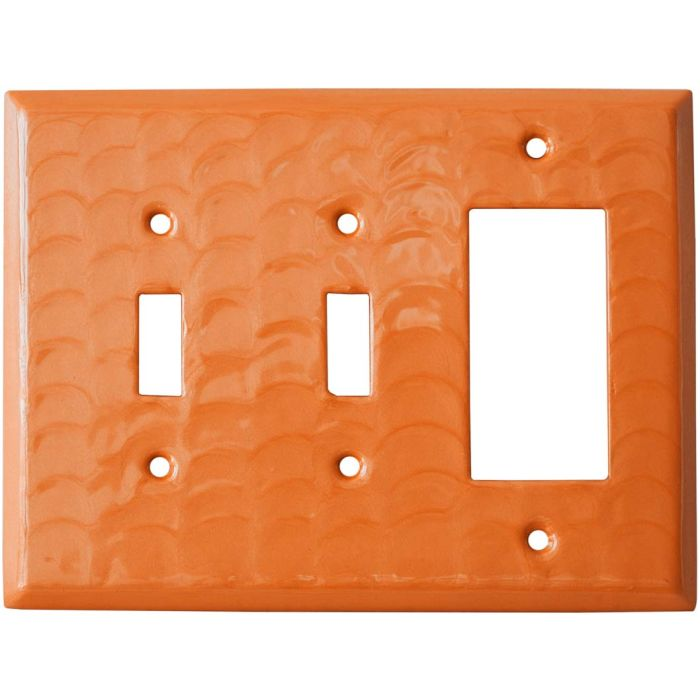 Orange Motion Double 2 Toggle / 1 GFCI Rocker Combo Switchplates