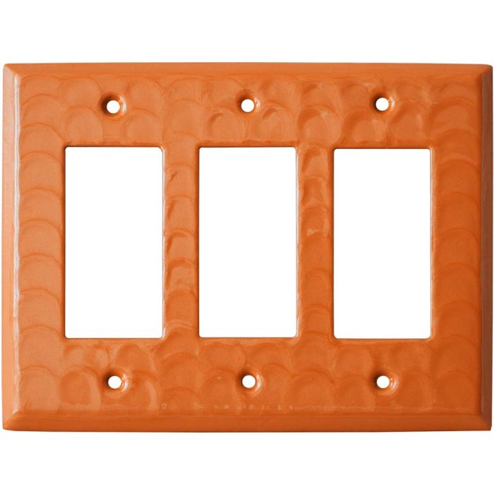 Orange Motion - 3 Rocker GFCI Decora Switch Covers