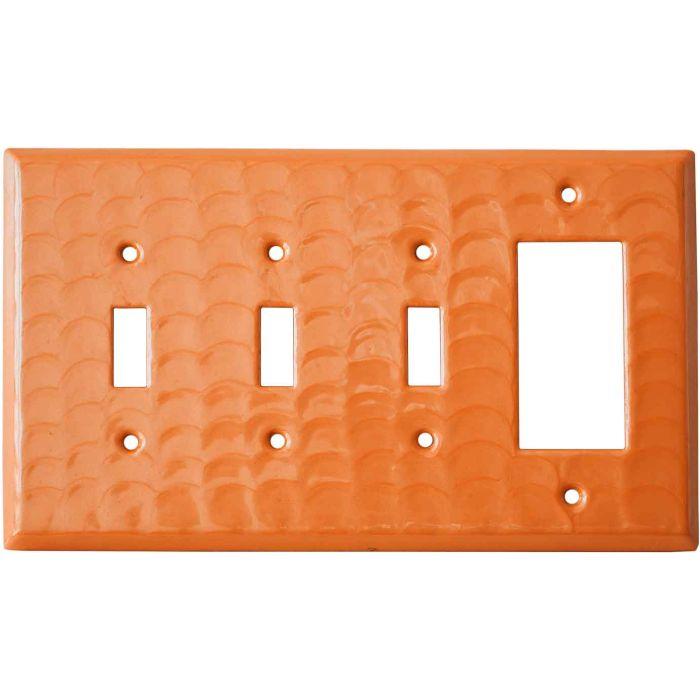 Orange Motion - 3 Toggle/1 Rocker GFCI Switch Covers