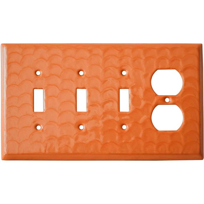 Orange Motion - 3 Toggle/Outlet Combo Wallplates