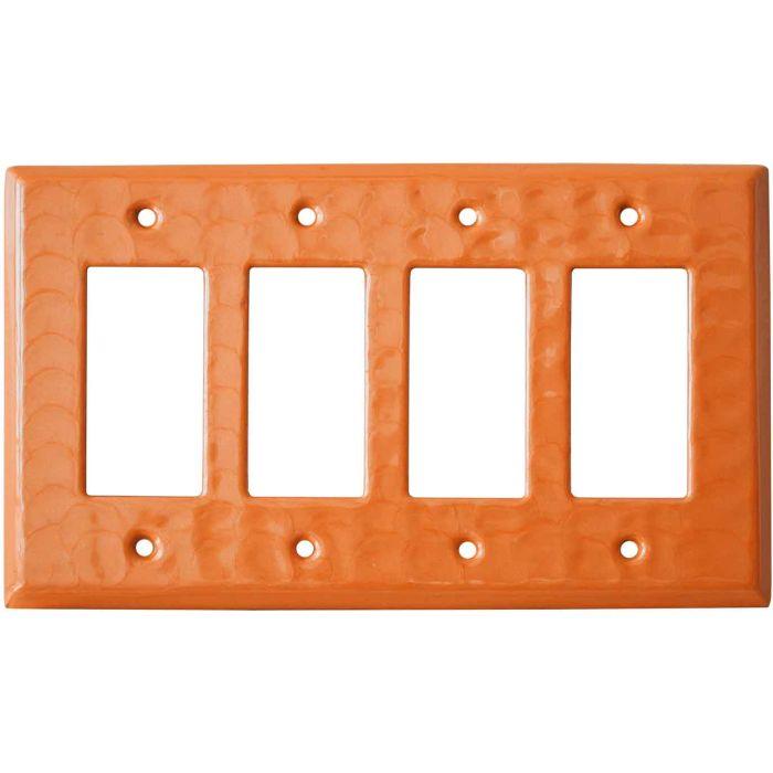Orange Motion - 4 Rocker GFCI Decora Switch Plates