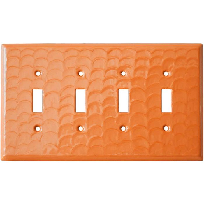Orange Motion Quad 4 Toggle Light Switch Covers