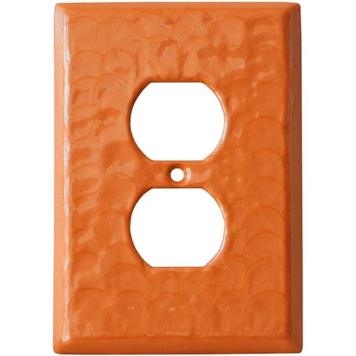 Orange Motion 1 Gang Duplex Outlet Cover Wall Plate