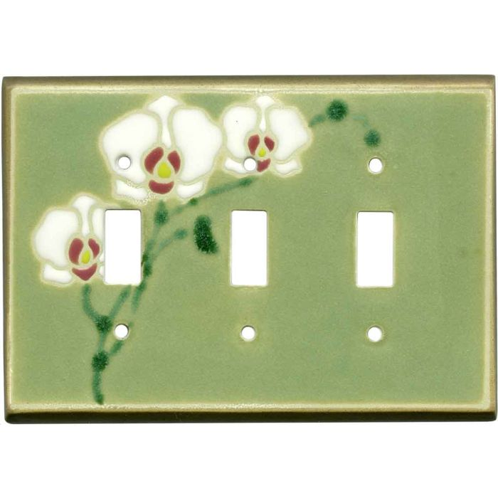 Orchid Ceramic3 - Toggle Switch Plates
