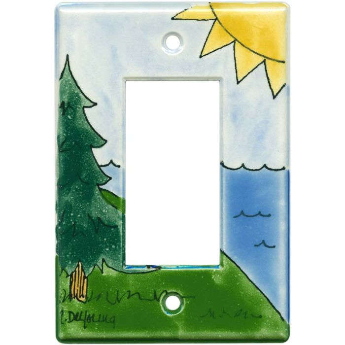 Outdoor Single 1 Gang GFCI Rocker Decora Switch Plate Cover