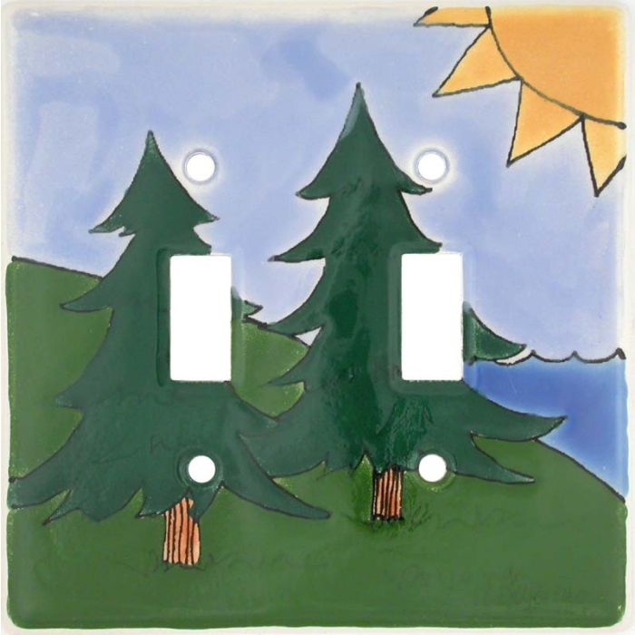 Outdoor Double 2 Toggle Switch Plate Covers