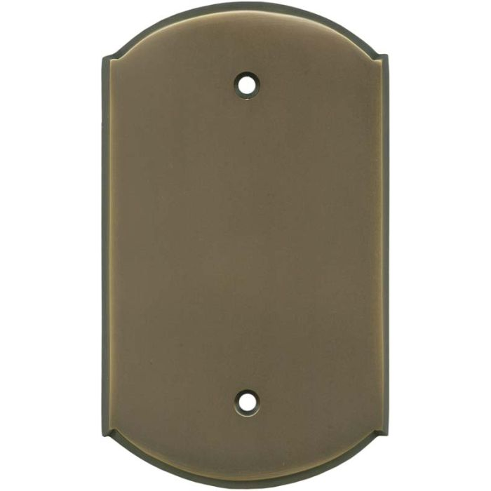 Ovalle Antique Brass Blank Wall Plate Cover