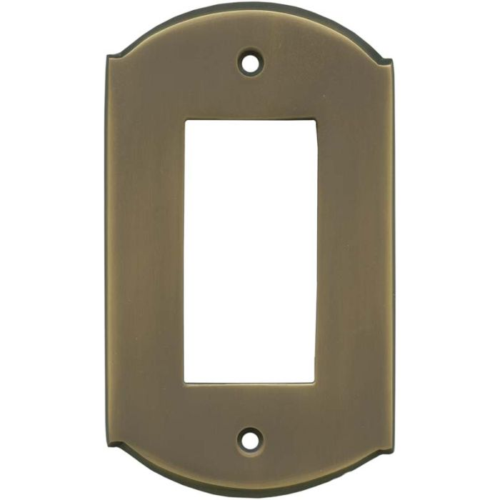 Ovalle Antique Brass Single 1 Gang GFCI Rocker Decora Switch Plate Cover