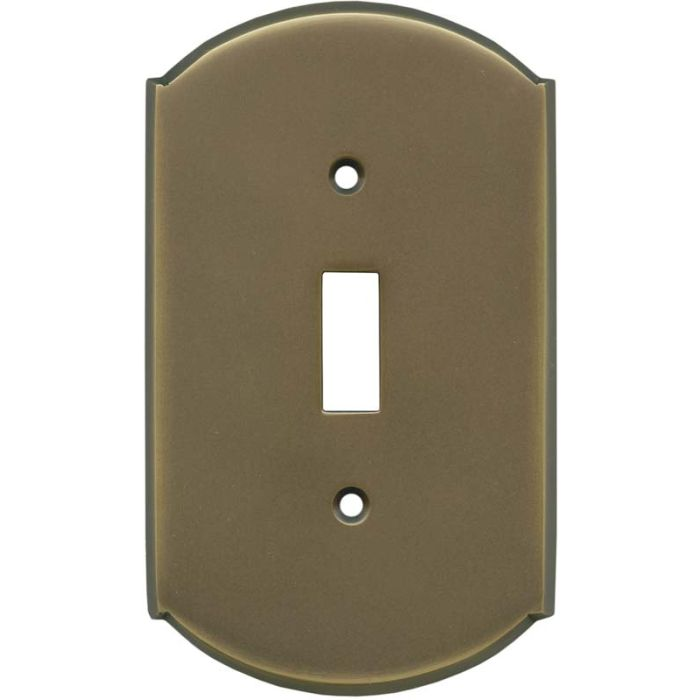 Ovalle Antique Brass - 1 Toggle Light Switch Plates