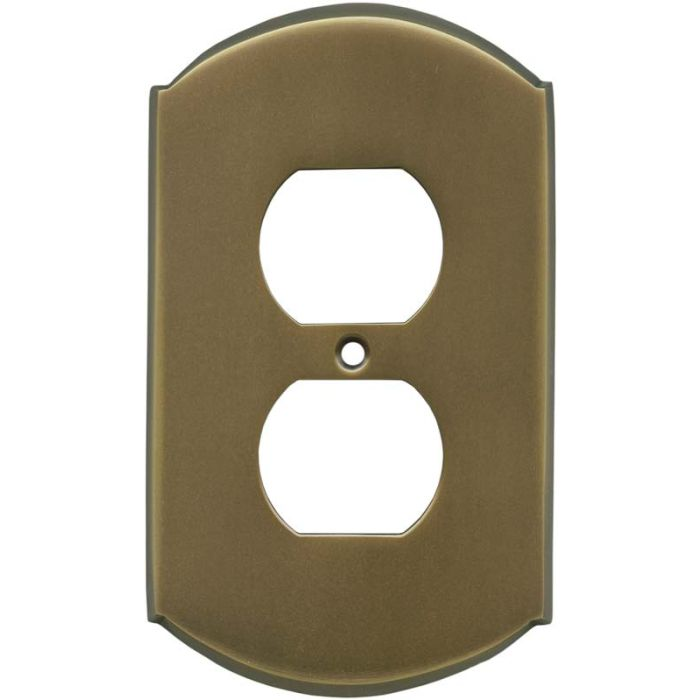 Ovalle Antique Brass 1 Gang Duplex Outlet Cover Wall Plate