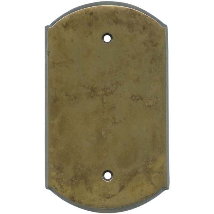 Ovalle Dappled Antique Brass Blank Wall Plate Cover