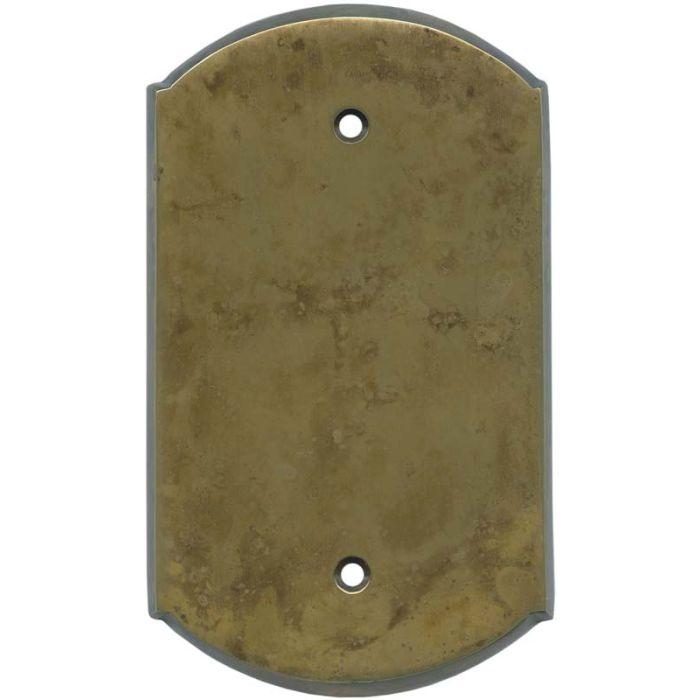 Ovalle Dappled Antique Brass - Blank Wall Plates