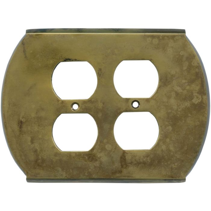 Ovalle Dappled Antique Brass - 2 Gang Electrical Outlet Covers