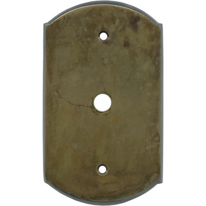 Ovalle Dappled Antique Brass Coax Cable TV Wall Plates