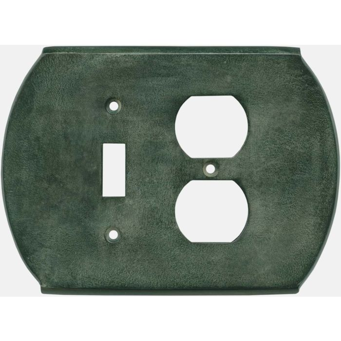 Ovalle Verdigris - Combination 1 Toggle/Outlet Cover Plates