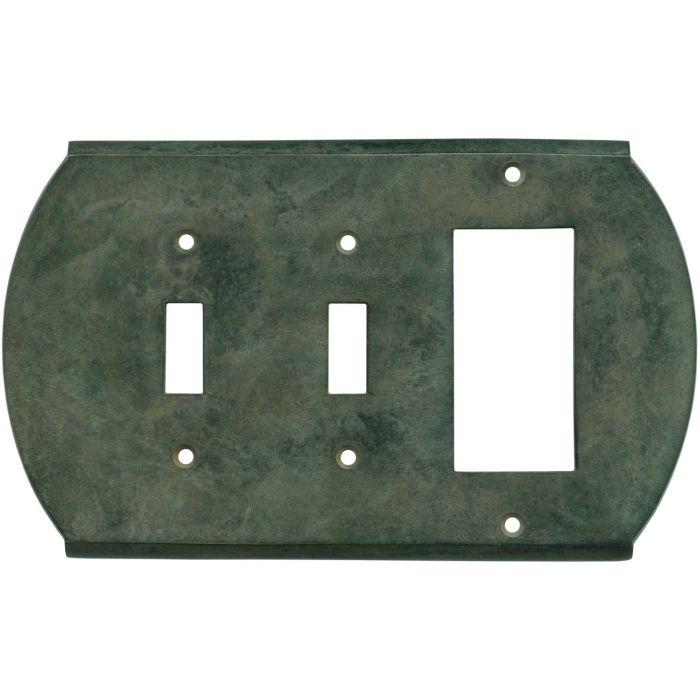 Ovalle Verdigris - 2 Toggle/1 GFCI Rocker Switchplates