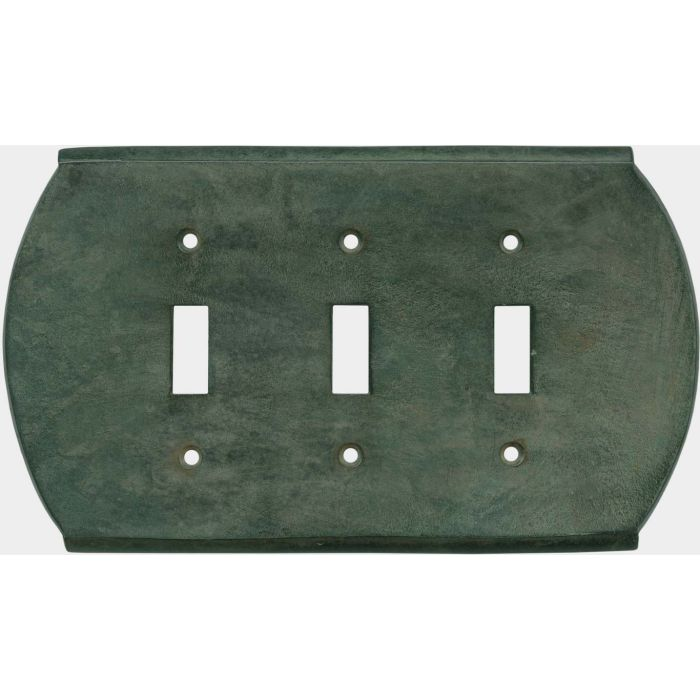 Ovalle Verdigris Triple 3 Toggle Light Switch Covers