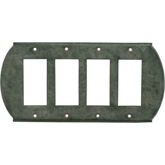 Ovalle Verdigris 4 Rocker GFCI Decorator Switch Plates
