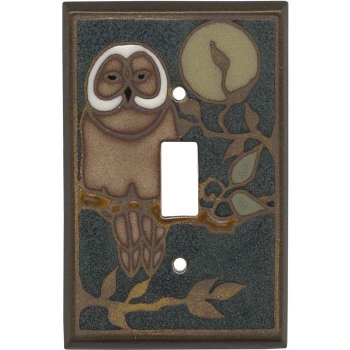 Owl Ceramic Single 1 Toggle Light Switch Plates