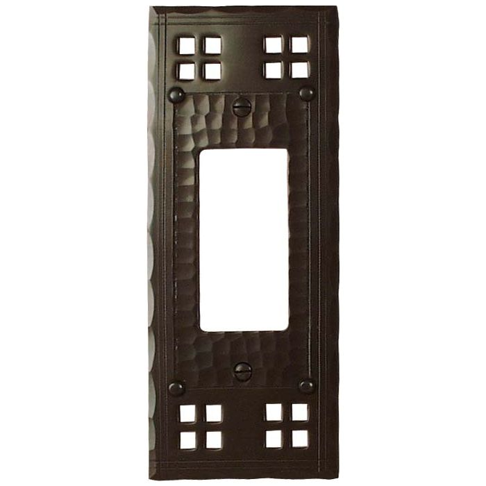 Pacific Style Single 1 Gang GFCI Rocker Decora Switch Plate Cover