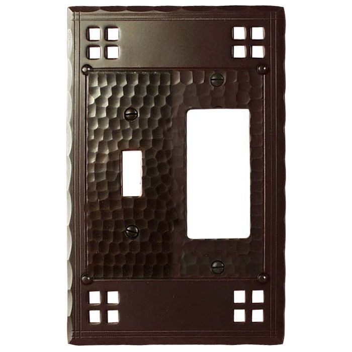 Pacific Style Combination 1 Toggle / Rocker GFCI Switch Covers