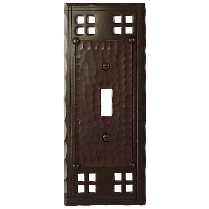 Pacific Style Single 1 Toggle Light Switch Plates