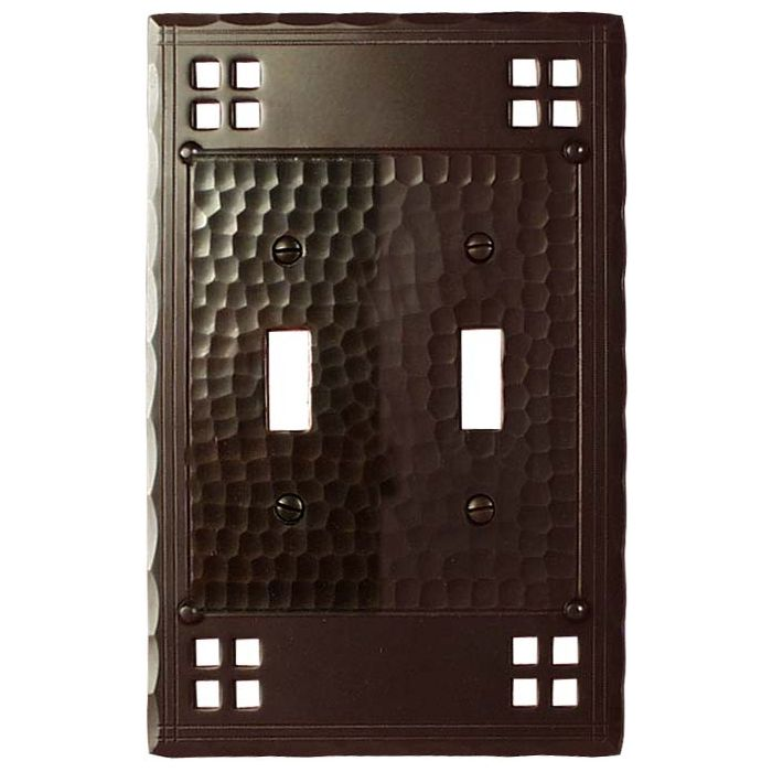 Pacific Style Double 2 Toggle Switch Plate Covers