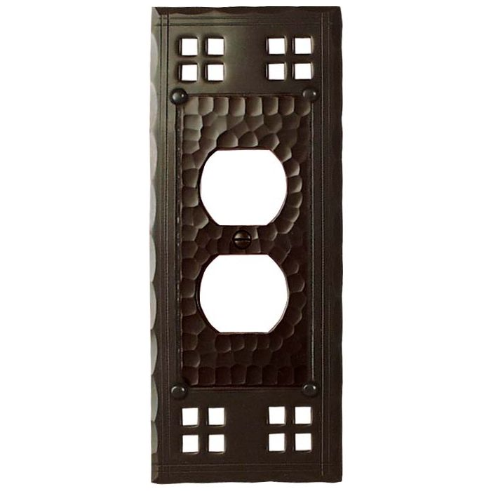 Pacific Style 1 Gang Duplex Outlet Cover Wall Plate