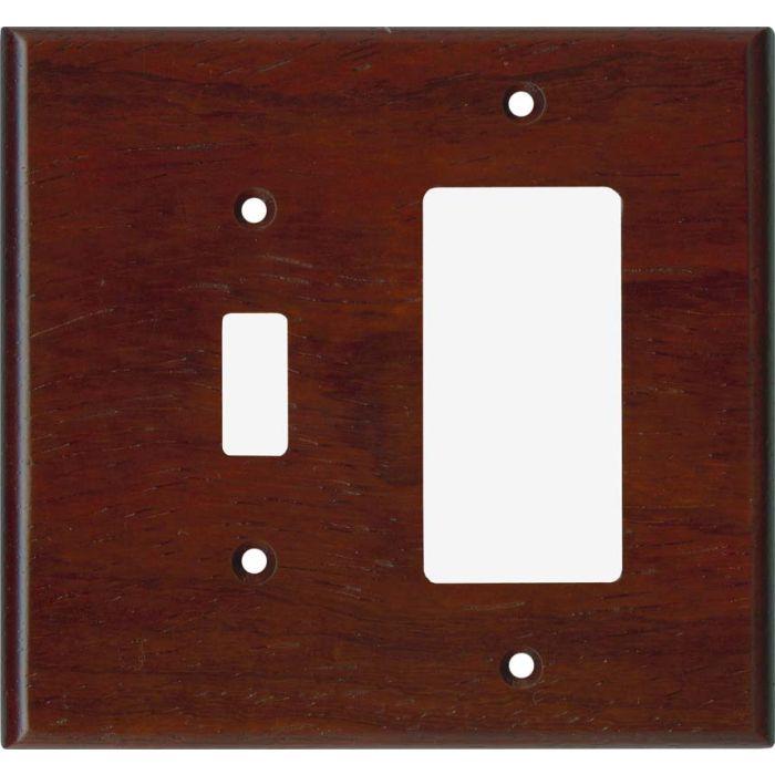 Padauk Satin Lacquer - Combination 1 Toggle/Rocker Switch Covers