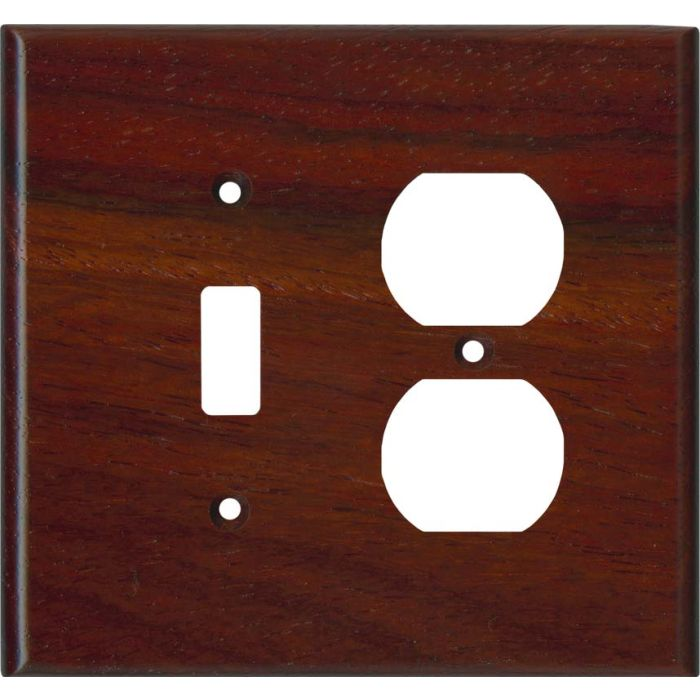 Padauk Satin Lacquer - Combination 1 Toggle/Outlet Cover Plates